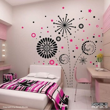 Vintage Bedroom Wall Decals Design Ideas To Try24