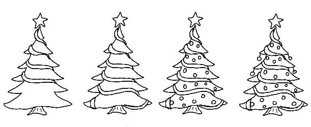 The Best Simple Christmas Tree Drawing Ideas