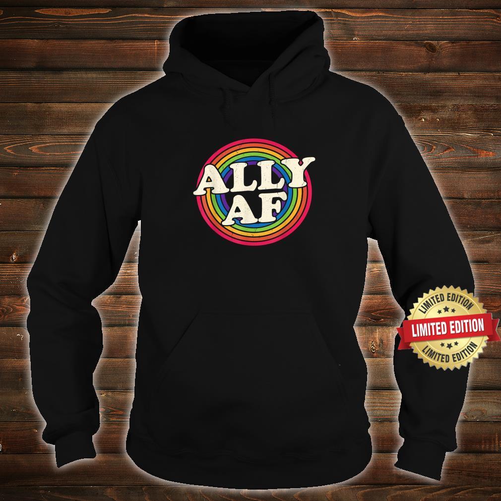 Ally AF Gay Pride Month Shirt LGBT Rainbow Shirt hoodie