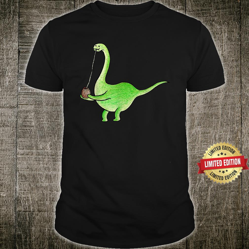 Argentinosaurus Drinks Maté Tea Dinosaur Argentina Shirt