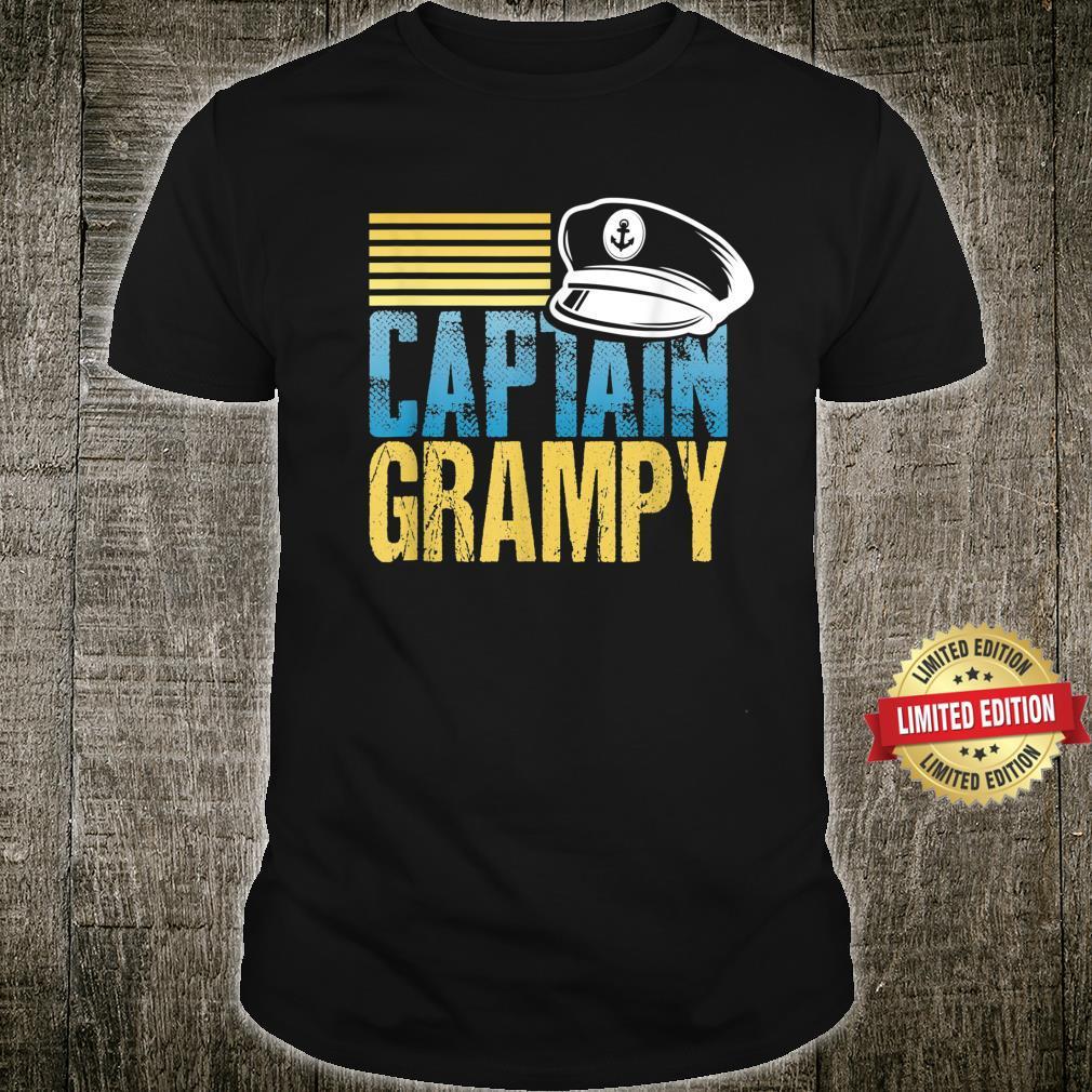 Captain Grampy Sailing Captain Hat Boat Boating Shirt