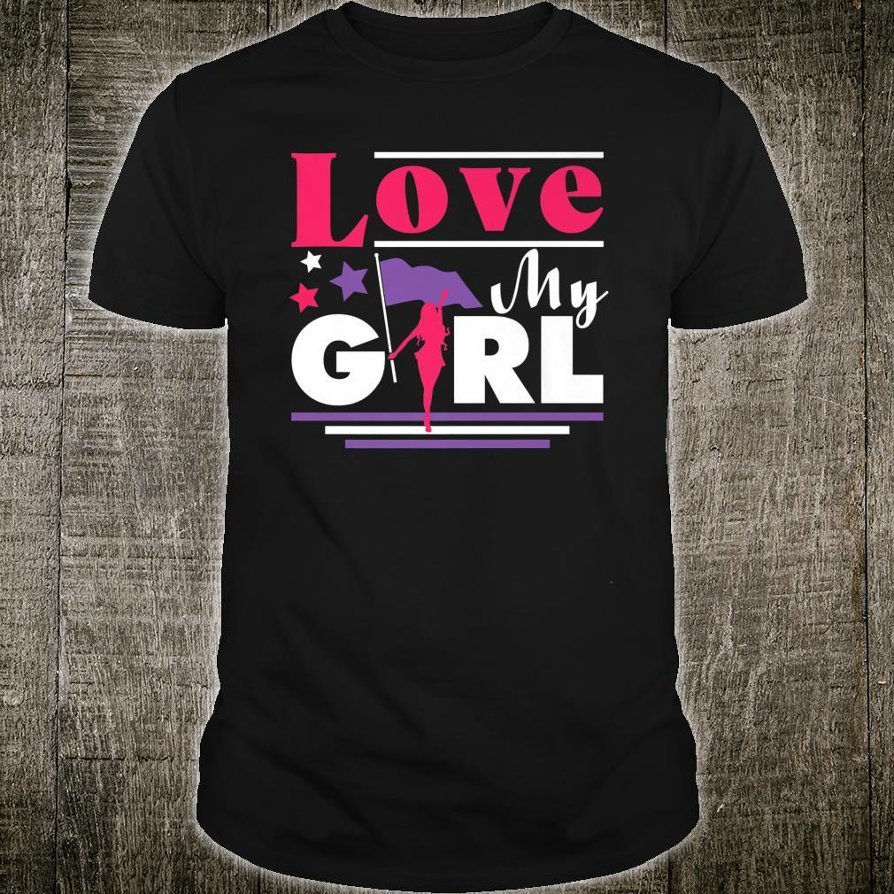 Color Guard Mom Cute Love My Girl Flag Shirt