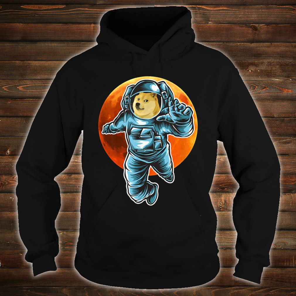 Dogecoin to the Moon Astronaut, Doge Space Suite Crypto Shirt hoodie