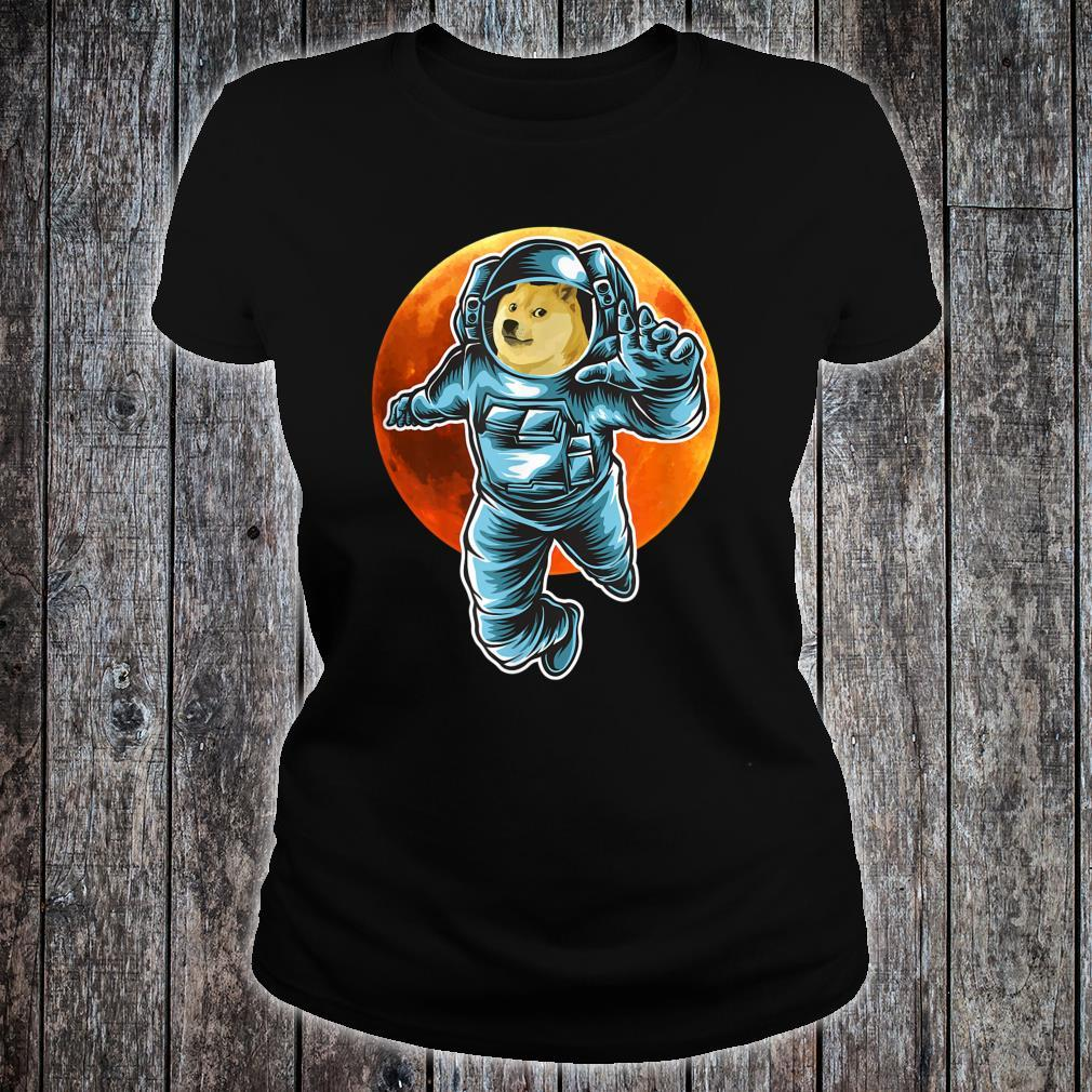 Dogecoin to the Moon Astronaut, Doge Space Suite Crypto Shirt ladies tee