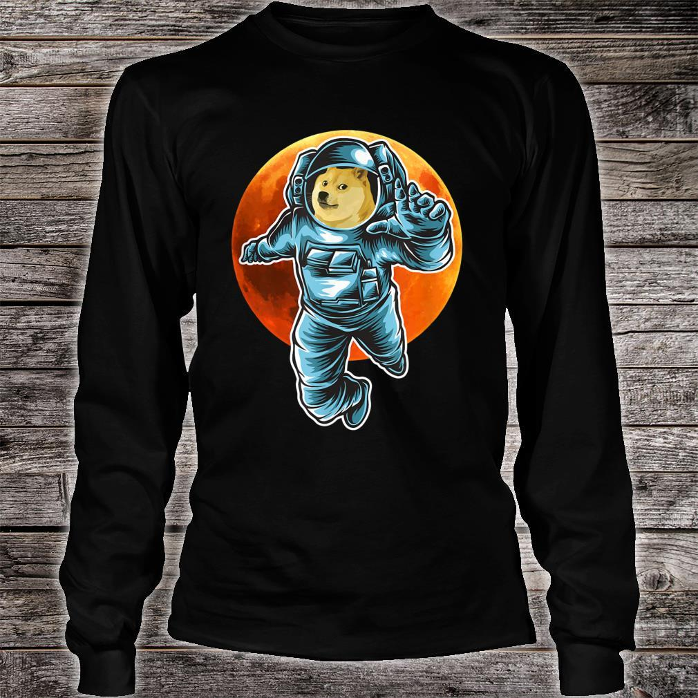 Dogecoin to the Moon Astronaut, Doge Space Suite Crypto Shirt long sleeved