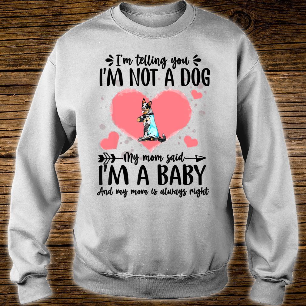 I'm Telling You I'm Not A Cattle Dog Dog Shirt sweater