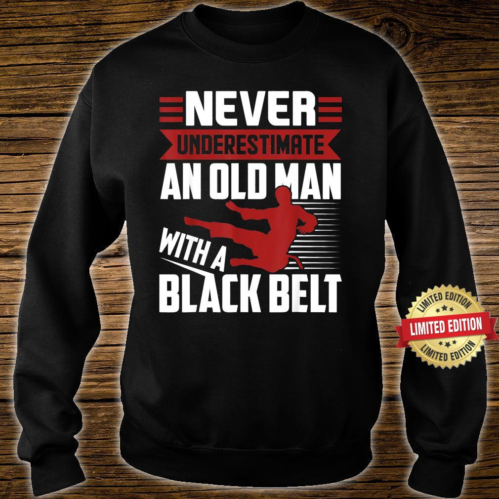 Never Underestimate An Old Man With A Karate Humor Shirt sweater