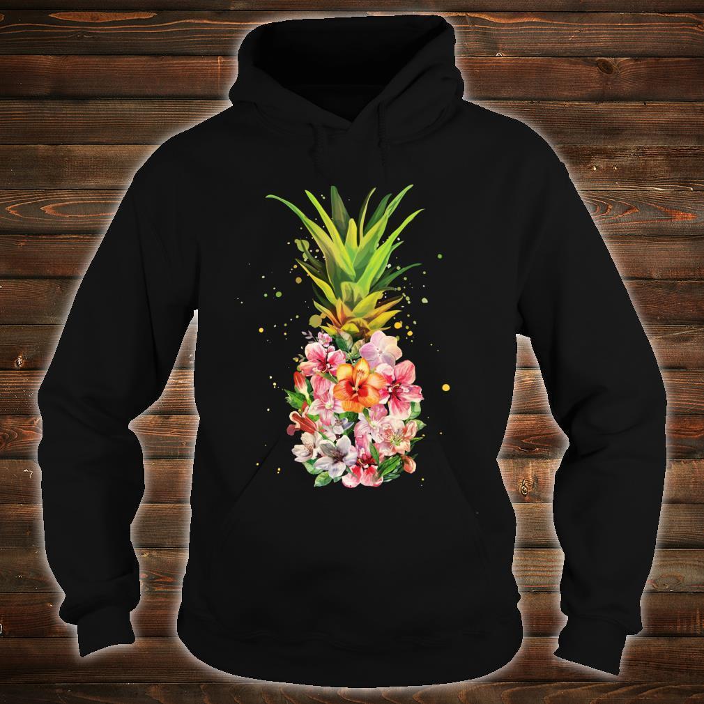 Pineapple Flowers Aloha Hawaii Vintage Hawaiian Floral Shirt hoodie