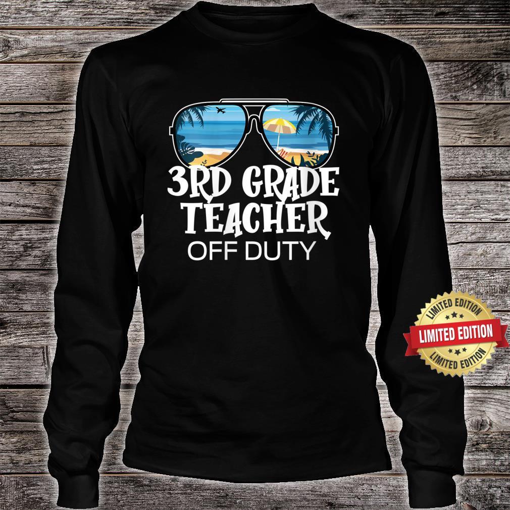 Sunglasses Palm Tree Beach 3rd Grade Teacher Off Duty Shirt long sleeved
