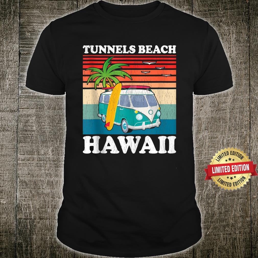 Vintage Family Vacation Retro Hawaii Tunnels Beach Shirt