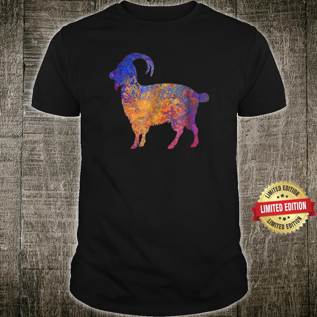 Watercolor Mountain Goat Apparel Shirt