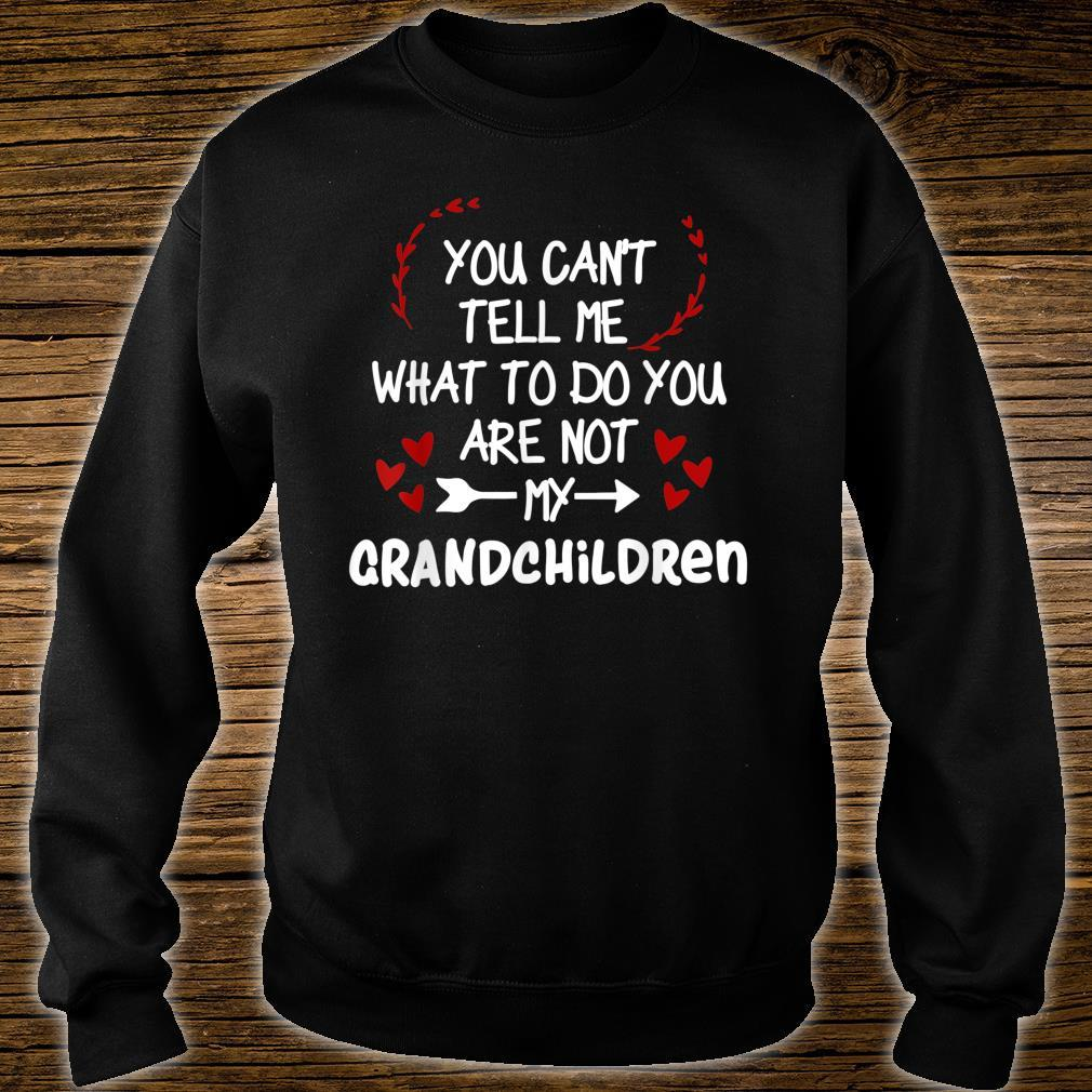 You Can't Tell Me What To Do You are Not My Grandchildren Shirt sweater