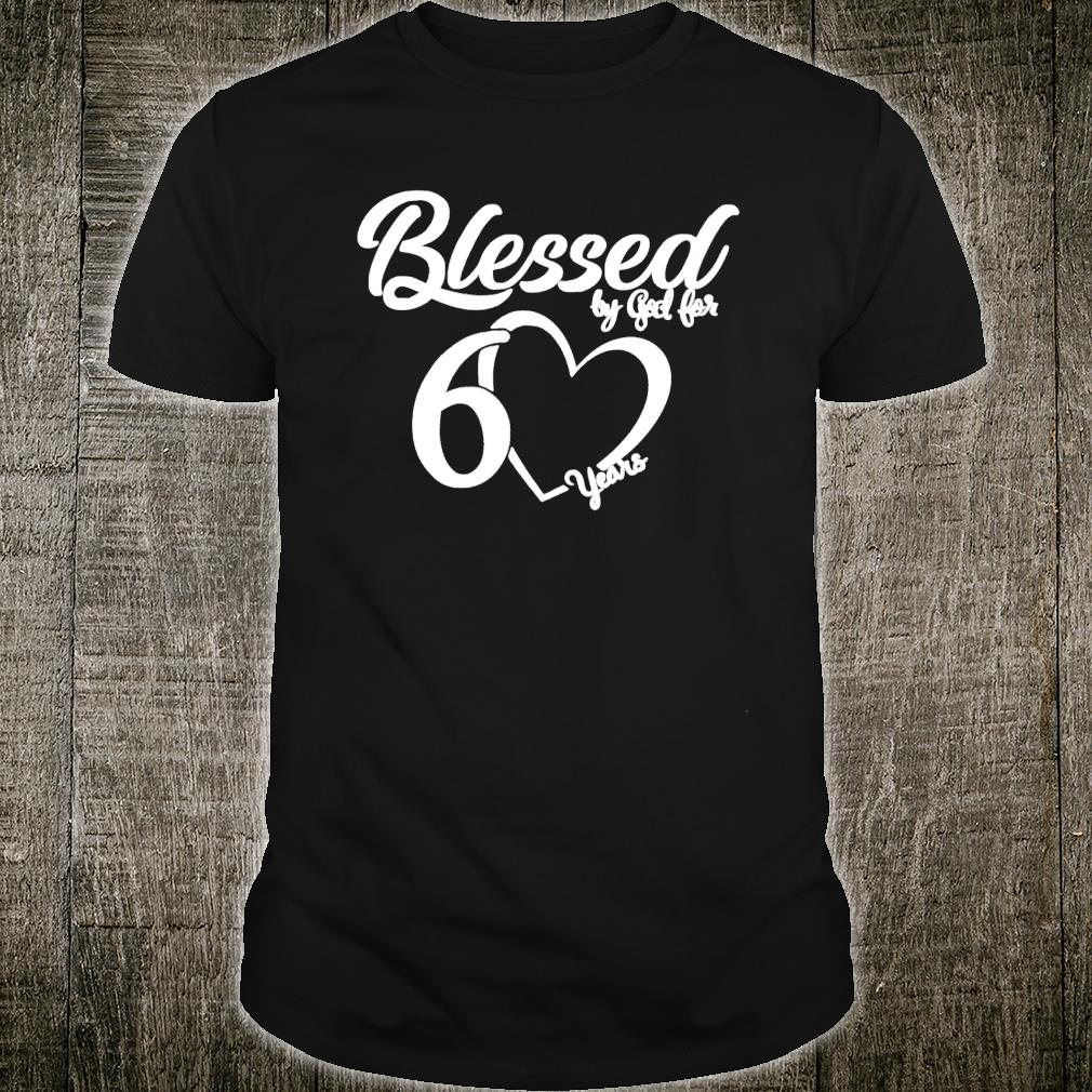Download Official Blessed by God for 60 Years Birthday Shirt ...