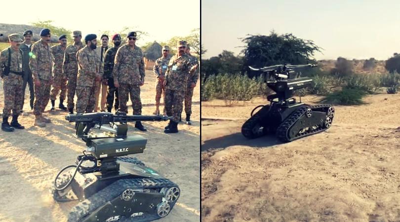 Pakistan Army is testing this crazy rocket, grenade, and machine gun firing robot