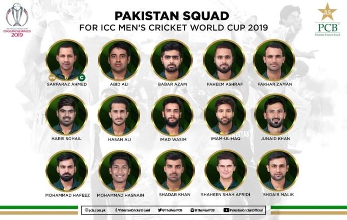 PCB announces Pakistan Cricket World Cup Squad – Muhammad Amir Dropped