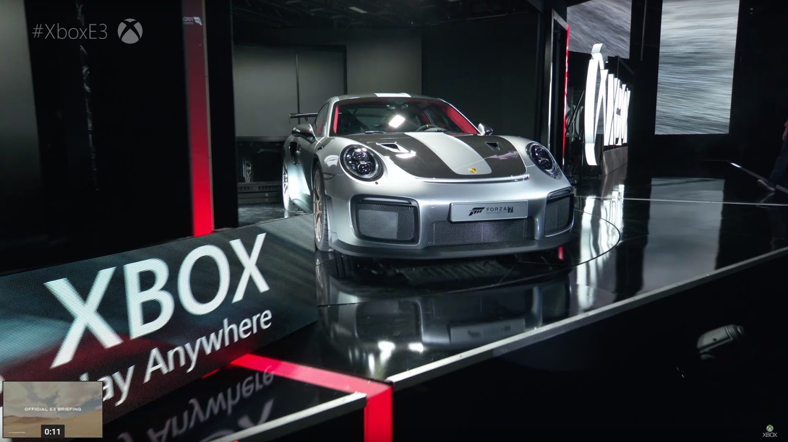 2018 porsche 911 gt2 rs unveiled at e3 gaming convention trending on net. Black Bedroom Furniture Sets. Home Design Ideas