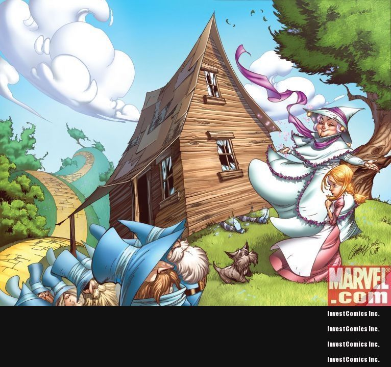 promo sketchbook THE WONDERFUL WIZARD of OZ 1 preview MARVEL COMIC SKOTTIE YOUNG