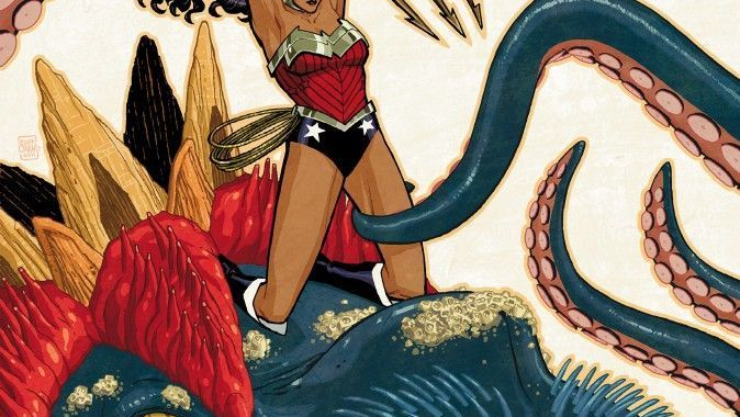 WONDER WOMAN gets a new origin, ACTION COMICS gets a new artist (for 2 issues)