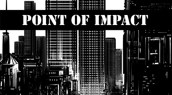 THE MURDER ISN'T THE ONLY MYSTERY IN POINT OF IMPACT