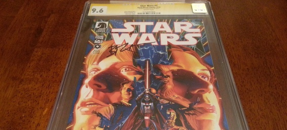 InvestComics – Ratchet City Comics: Christmas Giveaway! Star Wars #1 (Dark Horse) CGC Signed By Brian Wood!