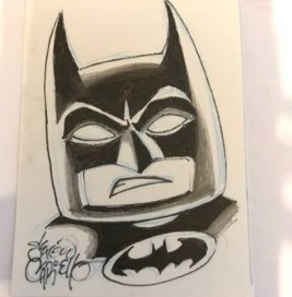 WIN Lego Batman Sketch Card