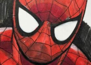 WIN Spider-Man Sketch Card