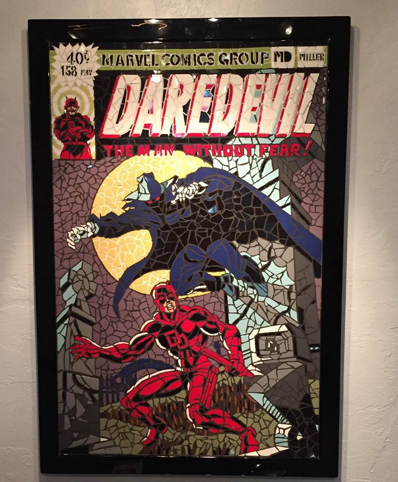 VARIANT COVER DAREDEVIL #597 SHATTERED COMICS HOMAGE DD #158 - FRANK MILLER