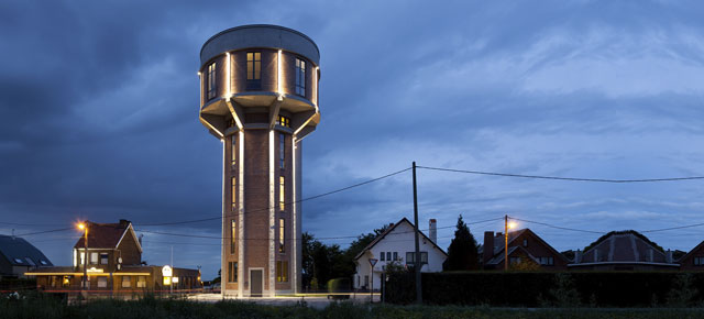 Former water tower is now a home; Belgium
