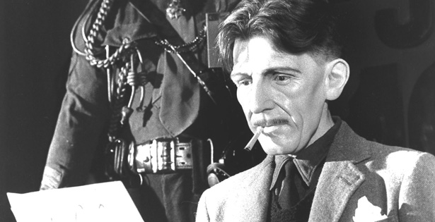 George Orwell (His real name was Eric Arthur Blair)
