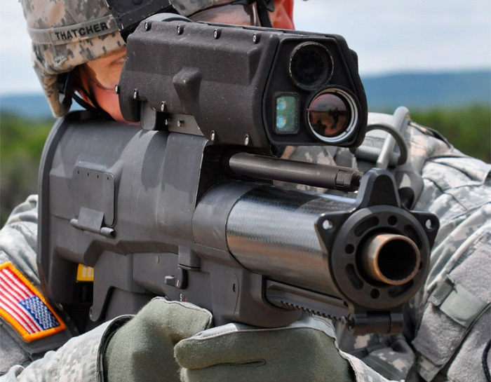 The Heckler & Koch HK XM25 IAWS 25mm Smart Granade Launcher