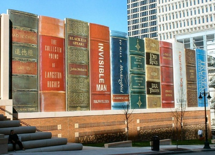 Book-shaped library