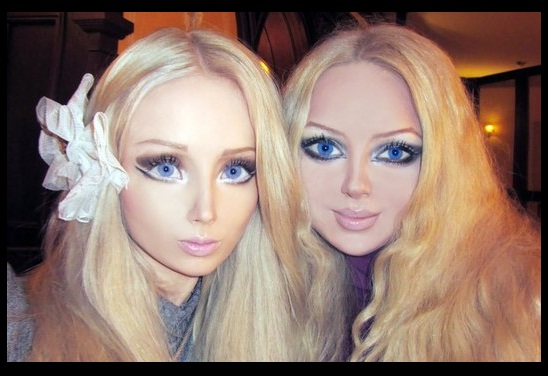 Russian girls turned with surgery into life size dolls