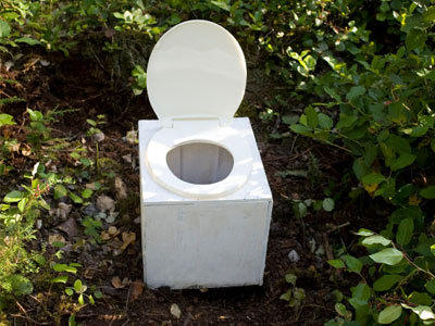 Toilet without water