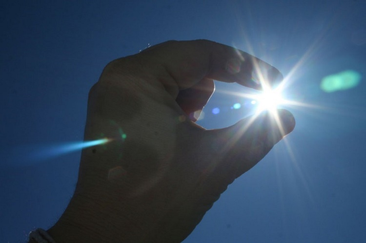 Hold sun in your hand. It's the perception that matters…