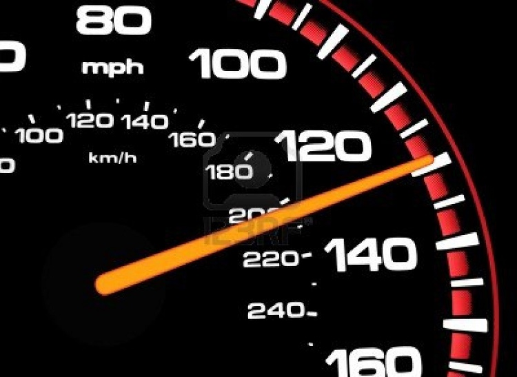 I was going 103mph? I couldn't tell, I'm dyslexic