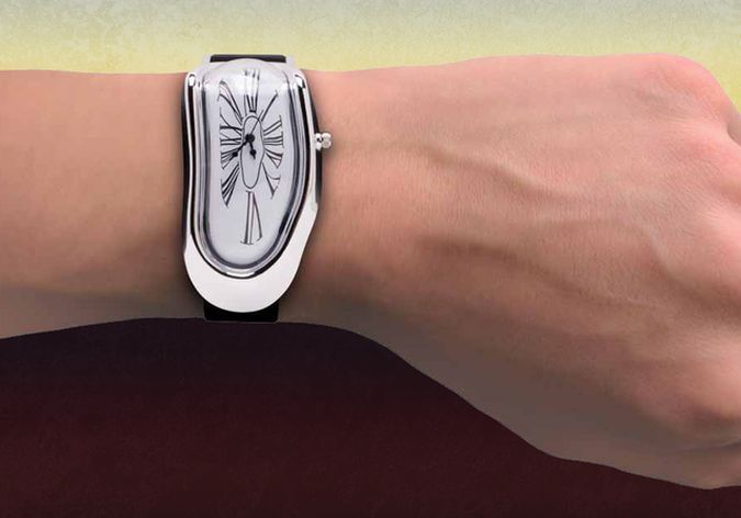 Salvador Dalí's Persistence of Memory-Inspired Melted Wristwatch