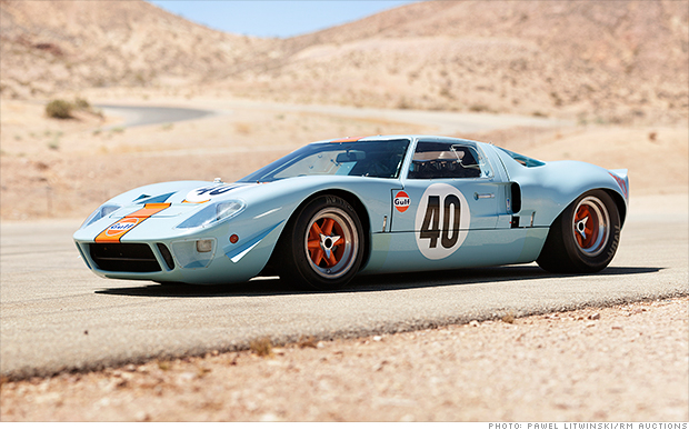 1968 Ford GT40 Gulf/Mirage Coupe ($11 million)