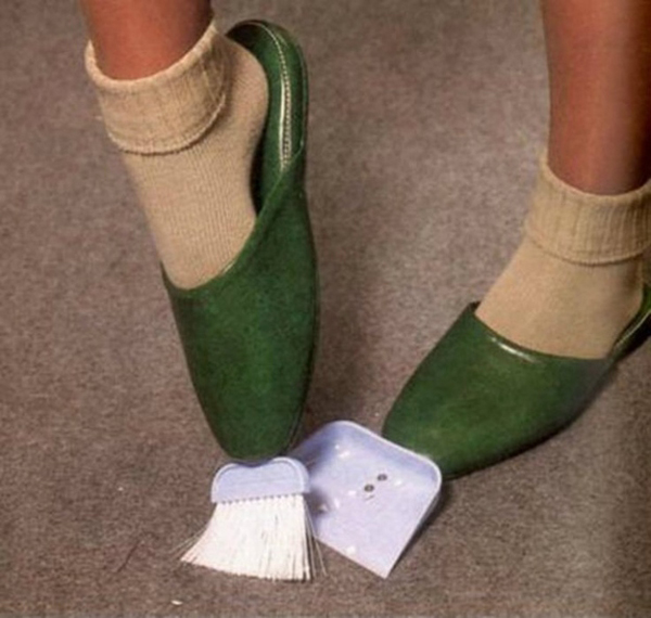 Broom and Dustpan Slippers