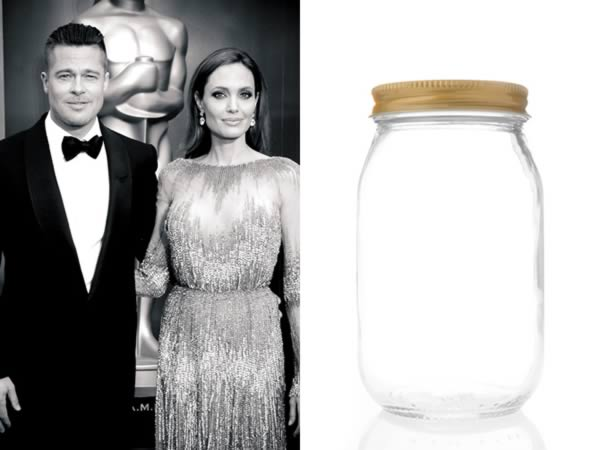 Jar that Brad Pitt and Angelina Jolie Breathed in Sells for $530