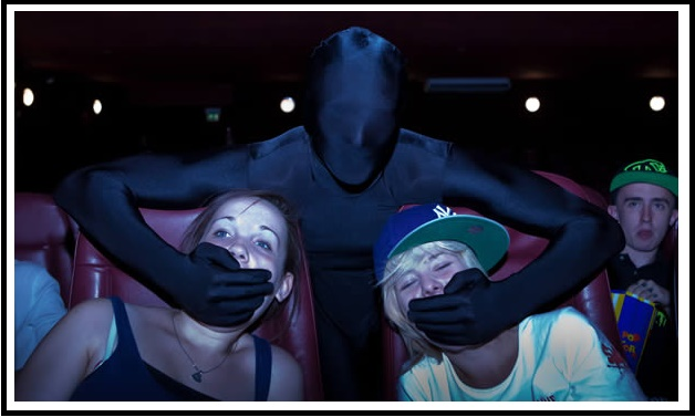 London Movie Theater Hires Masked Body Suit Ushers To Maintain Audience Behavior