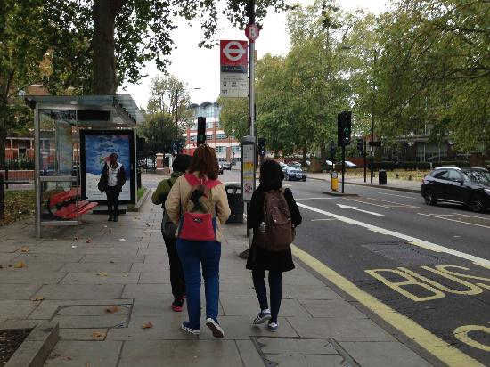 Take several walks around the block while you wait for your child at the bus stop