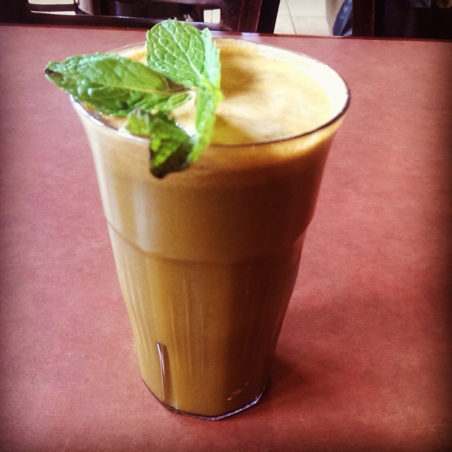 Carrot and mint juice are a great mix for an upset stomach