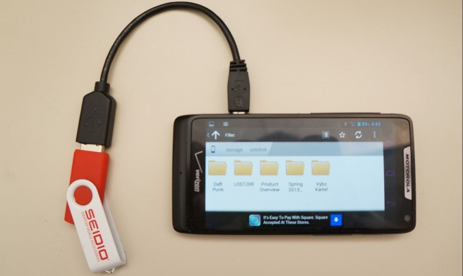 8 Connect to a USB flash drive