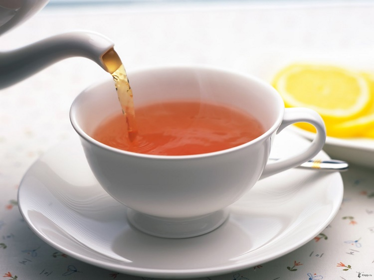 Have hot tea and water