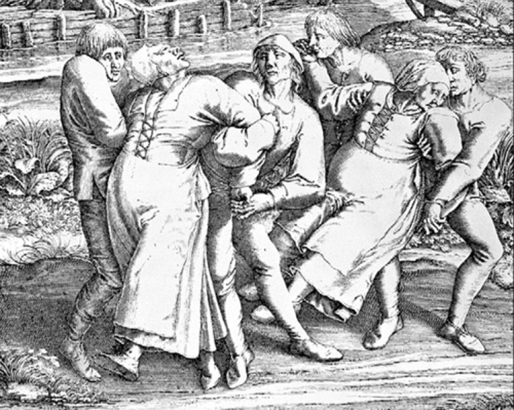 Dancing plague in 1518 that led to deaths