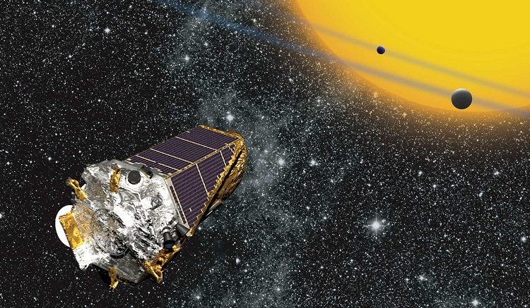 Kepler telescope and Cygnus constellation