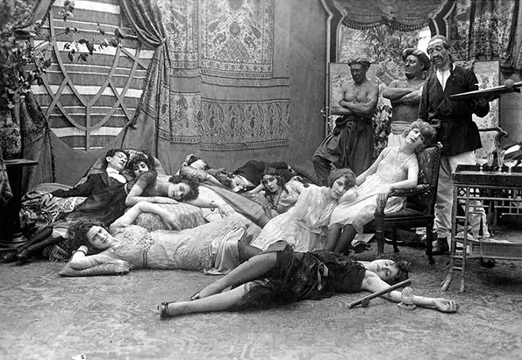 Opium Party in France, 1918