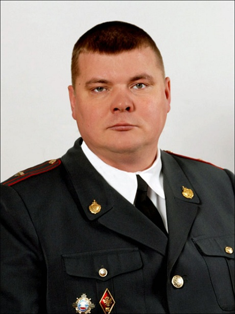 Russian police officer Alexander Kosolapov