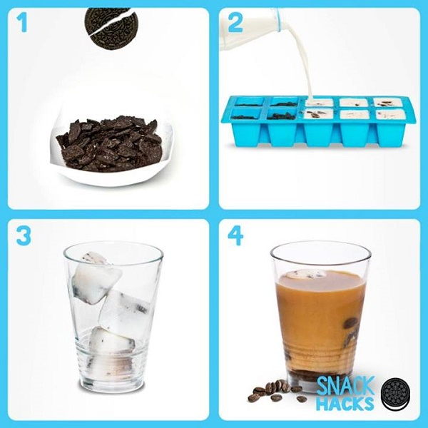 Milk and Oreo cubes