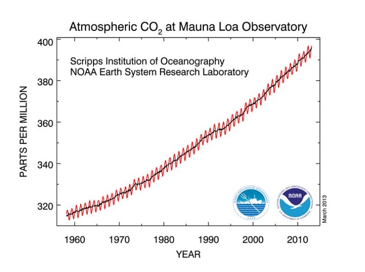 Last time the levels of CO2 were high